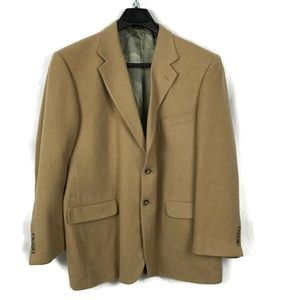Stafford Blazer Camel Hair 2 Button Suit Jacket